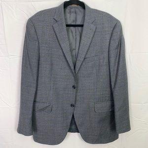PETER MILLAR Gray Plaid Suit Jacket Sport Coat 42S